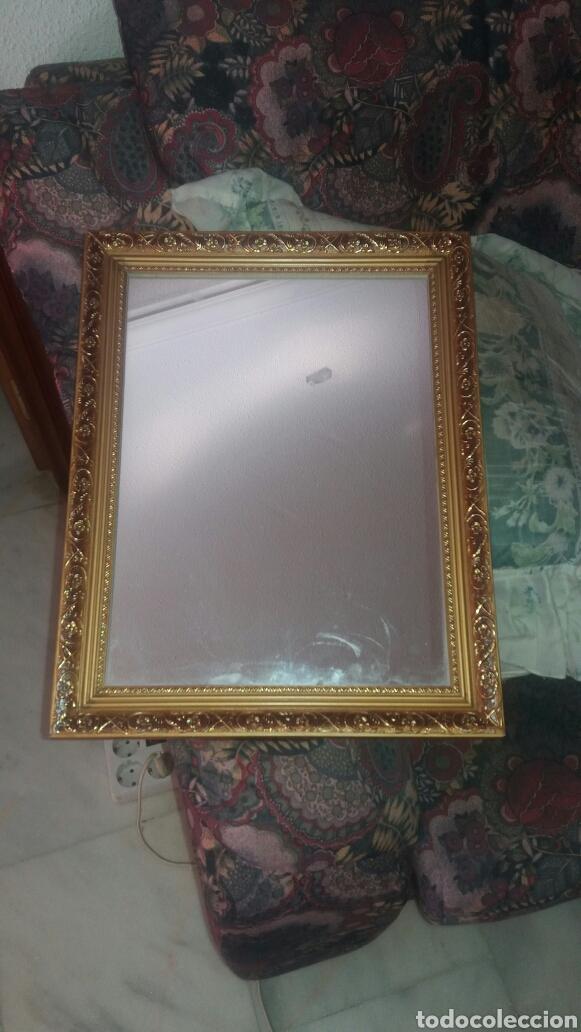 espejo enmarcado color dorado nuevo(marco de ma - Comprar Artículos ...