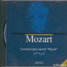 Nuevo: CD- MUSICA CLASICA:MOZART - CUARTETOS PARA CUERDA 1 Y 2 (ORBIS FABRI) . Lote 55644729
