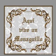 Nuevo: AZULEJO 15X15 AQUI VIVE UN MONAGUILLO. Lote 95728095