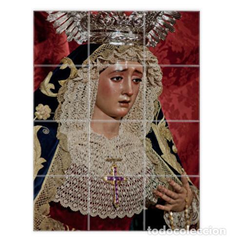 RETABLO DE 12 AZULEJOS 10X10 DE LA VIRGEN DE MONTSERRAT (SEVILLA) (Artículos Nuevos)