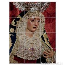 Nuevo: RETABLO DE 12 AZULEJOS 10X10 DE LA VIRGEN DE MONTSERRAT (SEVILLA). Lote 105288467