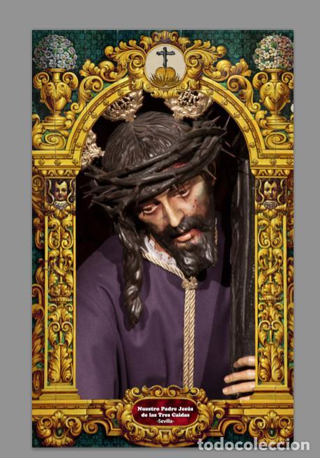 AZULEJO 20X30 DEL CRISTO DE LAS TRES CAIDAS DE SAN ISIDORO DE SEVILLA (Artículos Nuevos)