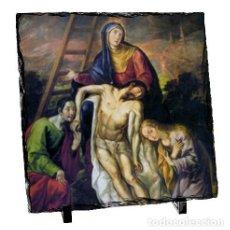 Nuevo: BALDOSA DE PIZARRA 15X15 DE JESÚS DESCENDIDO DE LA CRUZ. Lote 107310303