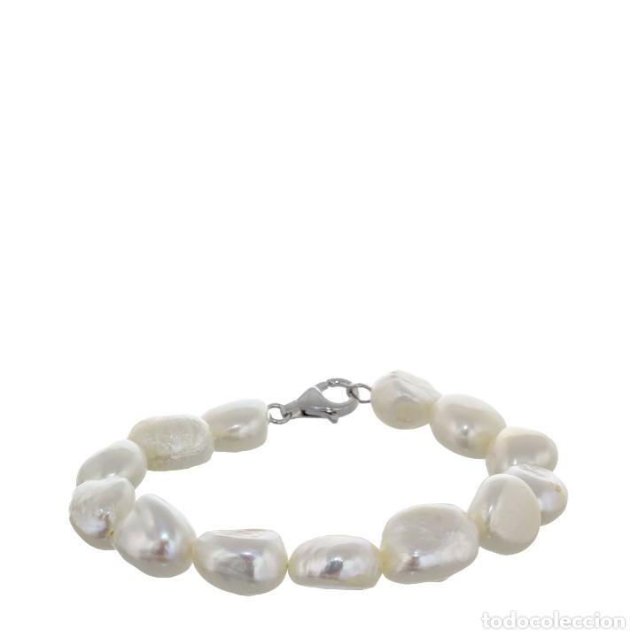 2c978304802e Pulsera de perlas - Joyería Arlá Barcelona Perlas Barrocas Cierre Mosquetón  Plata de Ley