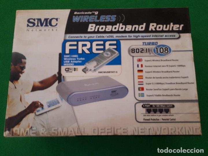 ROUTER WIRELESS BROADBAND WIFI + USB ADAPTER WIFI / SMC NETWORKS (Artículos Nuevos)