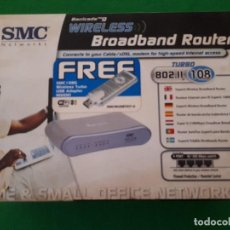 Nuevo: ROUTER WIRELESS BROADBAND WIFI + USB ADAPTER WIFI / SMC NETWORKS. Lote 113077263