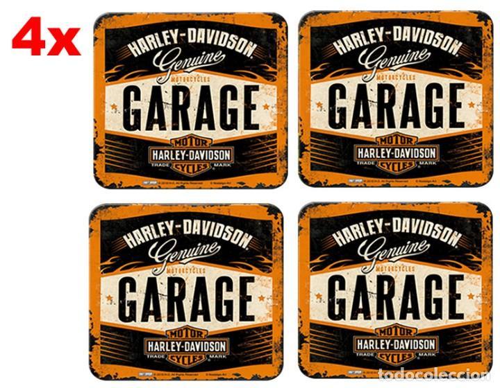 46142 Posavasos Harley Davidson Garage Decoraci Comprar Artículos