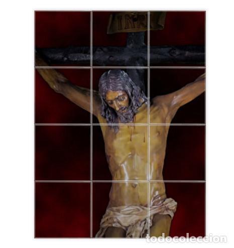 RETABLO DE 12 AZULEJOS 10X10 DEL SANTÍSIMO CRISTO DE LA BUENA MUERTE Y ÁNIMAS DE MÁLAGA (Artículos Nuevos)