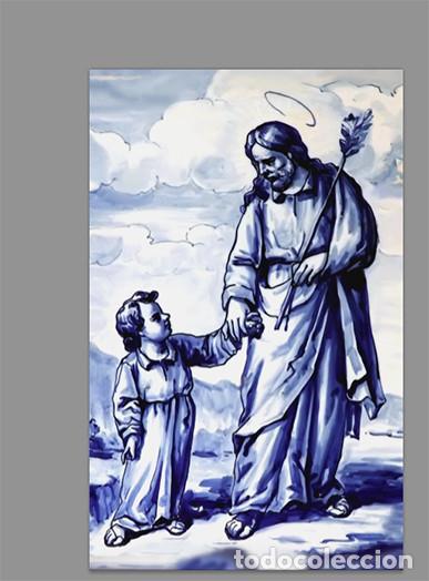 AZULEJO 20X30 DE SAN JOSÉ Y EL NIÑO JESÚS (Artículos Nuevos)