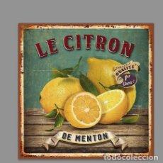 Nuevo: AZULEJO 15X15 TIPO VINTAGE LE CITRON DE MENTON. Lote 127749123