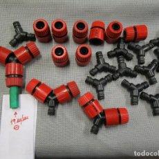 Neuf: LIQUIDACION MANGUERAS JARDIN 15 CONECTORES DE MANGUERA TRIPLES + 15 ENCHUFES RAPIDOS MARCA PROTEC +. Lote 157338194
