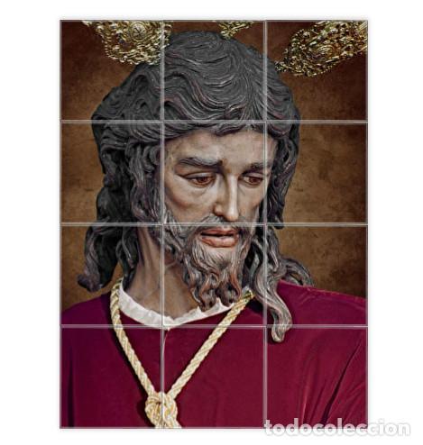 RETABLO CON 12 AZULEJOS 10X10 CTM DEL CRISTO DE SAN GONZALO DE SEVILLA (Artículos Nuevos)