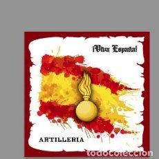 Nuevo: AZULEJO 15X15 CON EMBLEMA DE ARTILLERIA Y VIVA ESPAÑA. MOD:02. Lote 132679802