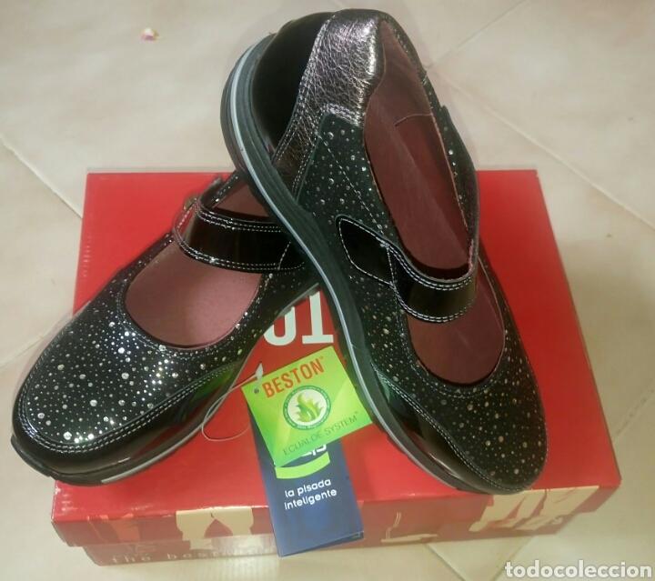 Talla Zapatos 37 Mujer Artículos Plat Beston Comprar Charol 3cRjS4LqA5