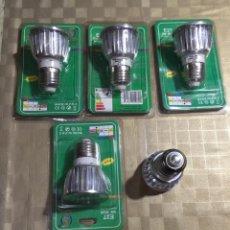 Nuevo: 5 LAMPARAS LED / COLORES - 3 W-110/240V. 60 HZ. . Lote 136725254