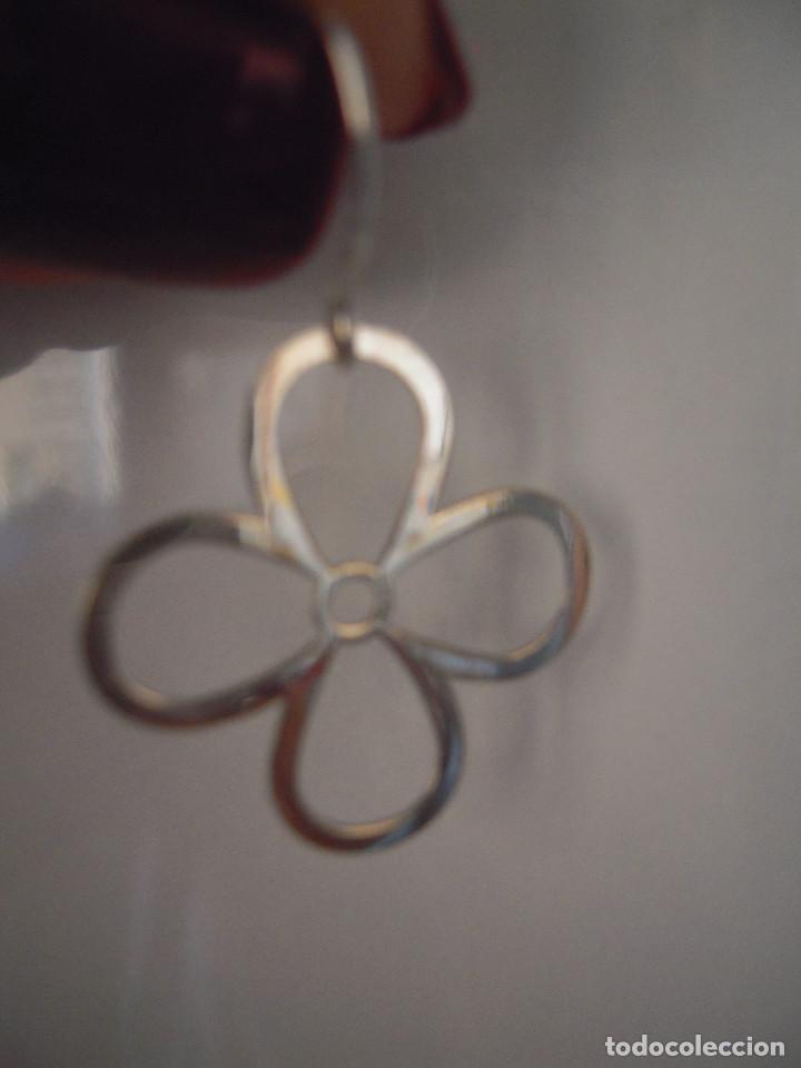 Nuevo: Pendientes plata flores - Foto 2 - 143086810