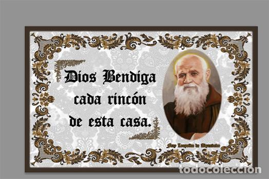 AZULEJO 20X30 DE FRAY LEOPOLDO DE ALPANDEIRE Y EL TEXTO DIOS BENDIGA CADA RINCÓN D (Artículos Nuevos)