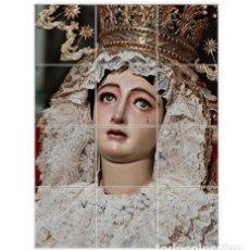 Nuevo: RETABLO DE 12 AZULEJOS 10X10 CTM DE MADRE DE DIOS DE LA PALMA DE SEVILLA. . Lote 148732998