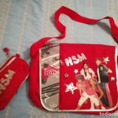 Nuevo: CARTERA DE COLEGIO Y PORTA LAPICES HIGH SCHOOL MUSICAL.. Lote 154521926