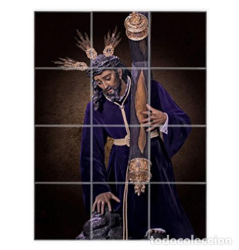 RETABLO DE 12 AZULEJOS 10X10 DEL SANTISIMO CRISTO DE LAS TRES CAIDAS DE TRIANA (SEVILLA) (Artículos Nuevos)