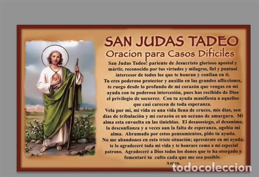 AZULEJO 20X30 DE SAN JUDAS TADEO CON ORACIÓN (Artículos Nuevos)