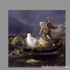 Nuevo: AZULEJO 15X15 CON CARONTE (EL BARQUERO DEL INFIERNO). Lote 162026922