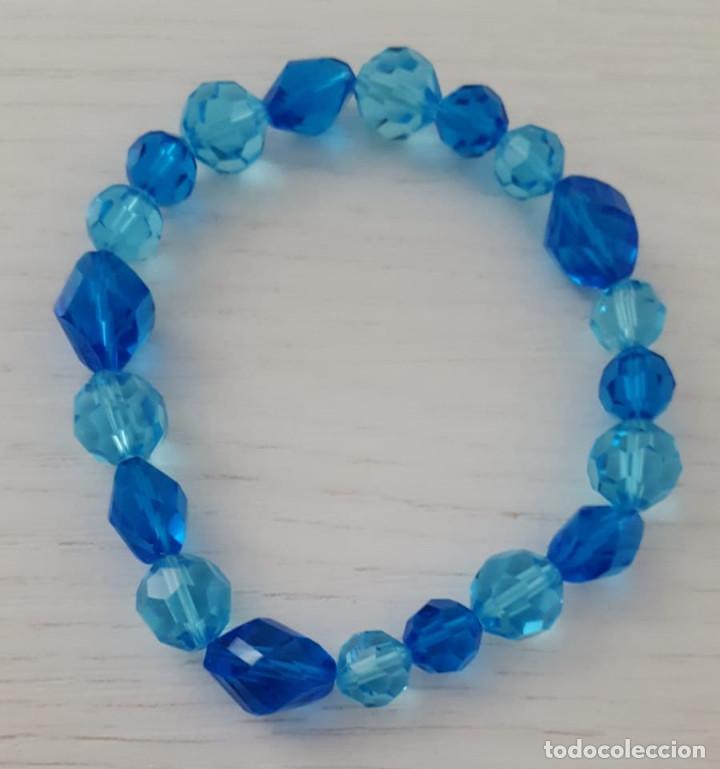 93e438ddd474 Pulsera cristal checo imitación en azul