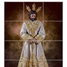 Nuevo: RETABLO DE 12 AZULEJOS 10X10 DE NUESTRO PADRE JESÚS DE LA PAZ DE SEVILLA (COFRADIA CARMEN DOLOROSO). Lote 163408430