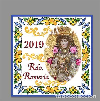 AZULEJO 15X15 DE RECUERDO DE LA ROMERIA DE LA VIRGEN DEL ROCIO 2019 (Artículos Nuevos)
