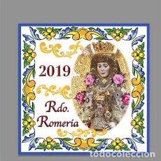 Nuevo: AZULEJO 15X15 DE RECUERDO DE LA ROMERIA DE LA VIRGEN DEL ROCIO 2019. Lote 166526070