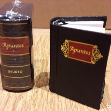 Nuevo: 2 LIBROS DE APUNTES / DEUSTO - EN MINIATURA CON CAJETÍN / UNO ESTÁ PRECINTADO. 6 X 5 X 2.5 CM. Lote 168875921