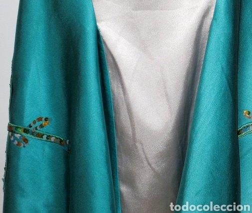 Nuevo: Vestido de pasarela ceremonia Jorge Terra T. 38 seda salvaje azul y plata - Foto 5 - 169902718