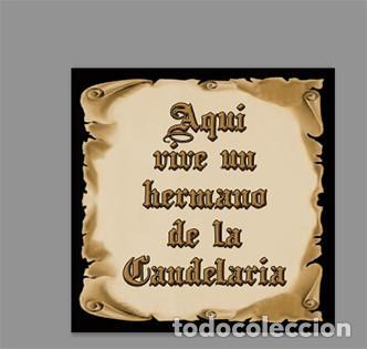 AZULEJO 15X15 DE AQUÍ VIVE UN HERMANO DE LA CANDELARIA (Artículos Nuevos)