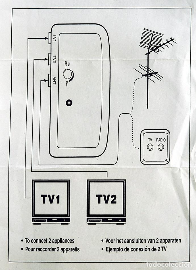 Nuevo: AMPLIFICADOR SEÑAL ANTENA TV TDT TELEVISION 2 SALIDAS DE SEÑAL SIGNAL AMPLIFIER ANTENNA - Foto 5 - 195325398
