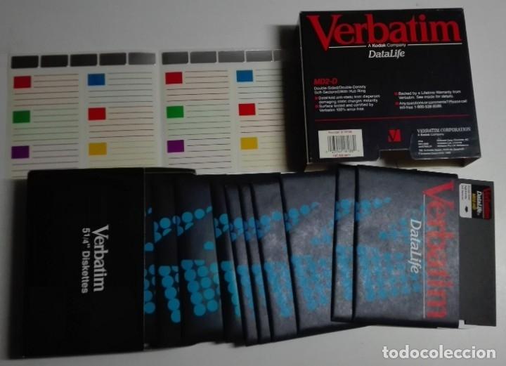 Nuevo: Caja completa con 15 antiguos diskettes de 5,25 pulgadas (marca Verbatim) - Foto 3 - 176217123