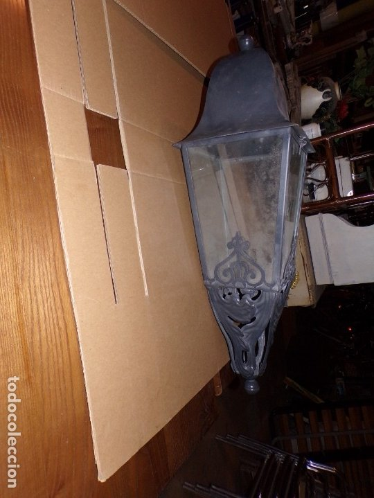 Nuevo: lampara exterior de hierro nueva - Foto 2 - 176732775