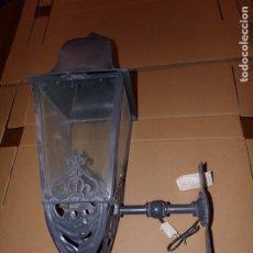 Nuevo: LAMPARA EXTERIOR DE HIERRO NUEVA. Lote 176732775