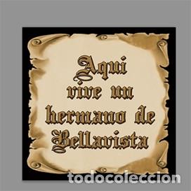 AZULEJO 15X15 DE AQUÍ VIVE UN HERMANO DE BELLAVISTA (Artículos Nuevos)
