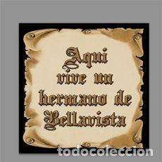 Nuevo: AZULEJO 15X15 DE AQUÍ VIVE UN HERMANO DE BELLAVISTA. Lote 178174983