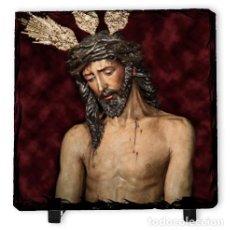 Nuevo: BALDOSA DE PIZARRA 15X15 DE JESÚS DE LA PRESENTACIÓN AL PUEBLO DE SEVILLA. Lote 183562378