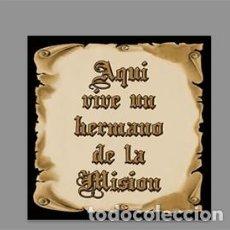 Nuevo: AZULEJO 15X15 DE AQUÍ VIVE UN HERMANO DE LA MISIÓN. Lote 184186811