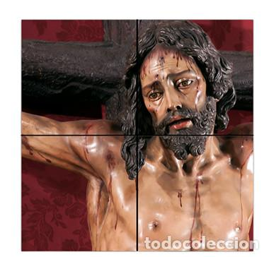 RETABLO DE 4 AZULEJOS 15X15 CTM DEL SANTÍSIMO CRISTO DE LA SED DE SEVILLA (Artículos Nuevos)