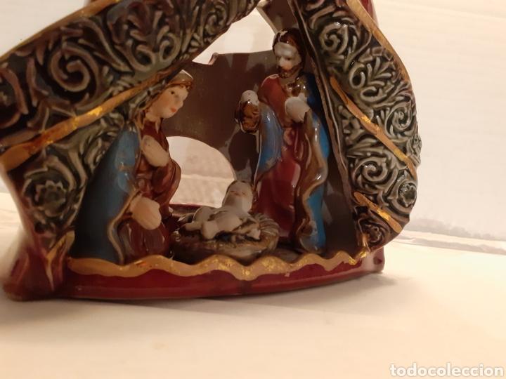 Nuevo: Figura original decorativa numerada de Belén en porcelana, para poner velas - Foto 2 - 187641856