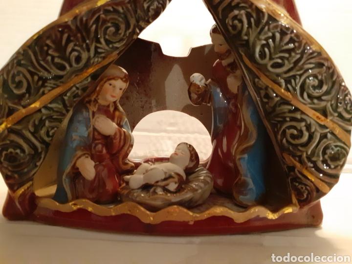 Nuevo: Figura original decorativa numerada de Belén en porcelana, para poner velas - Foto 5 - 187641856