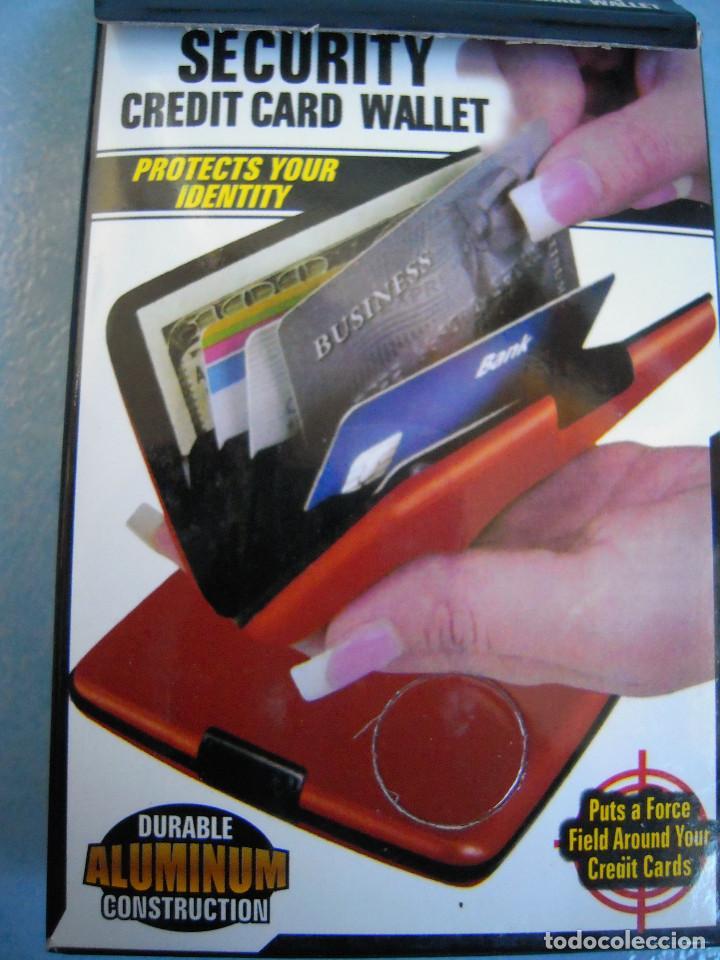 Nuevo: Cartera aluminio marrón tarjetas - Foto 6 - 189082802
