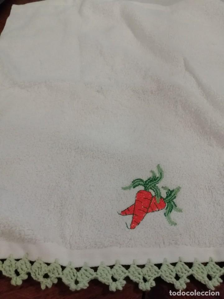 Nuevo: Dos paños de cocina decorados con hilo de algodón hecho a mano - Foto 5 - 192682223