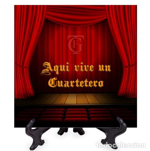 AZULEJO 10X10 CON INICIALES DEL GRAN TEATRO FALLA DE CÁDIZ Y EL TEXTO AQUI VIVE UN CUARTETERO (Artículos Nuevos)