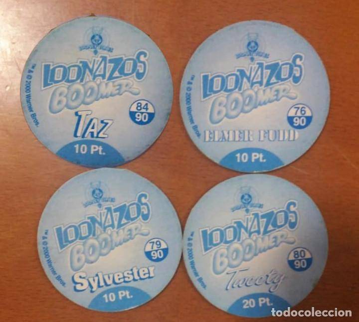 Nuevo: 4 Tazos Loonazos Looney Toones Boomer 2000 Warner Bros - Foto 2 - 194355010