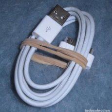 Nuevo: CABLE DE DATOS Y CARGADOR USB 1,2M PARA IPHONE 3GS/4/4S, 4,30-PIN - CASI NUEVO, DESPRECINTADO. Lote 195142330