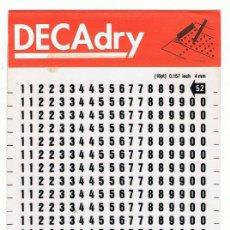 Nuevo: DECADRY. LETRAS TRANSFERIBLES Nº 52 (16 PT) 4 MM. LOTE DE 2 HOJAS. Lote 195250356